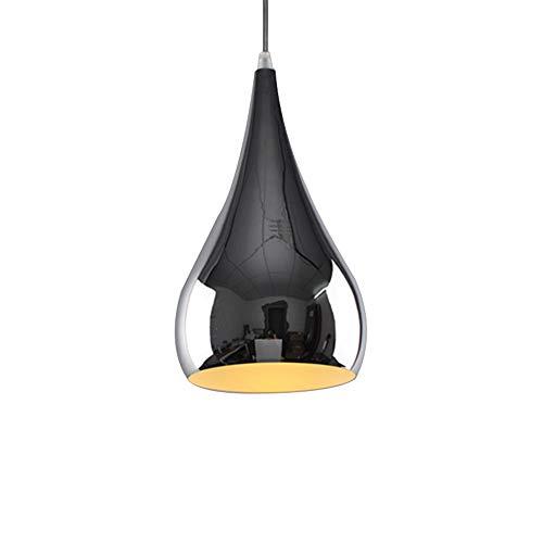 YIKUI Lumière Pendante, Corde Et Abat-Jour en Métal Lampe Moderne, 16 * 16 * 28 Cm, 1 * E27 Argent [Efficacité Énergétique A + +]
