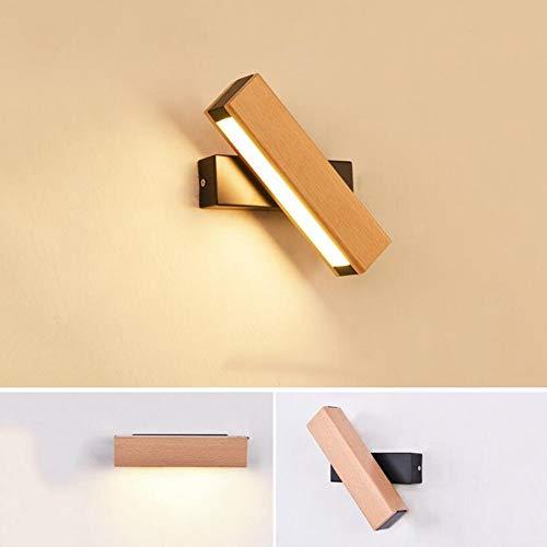 LZY Mode Kreativität Holz Badewanne - Spiegel Design kann gedreht werden, um die Studie Korridor Wandleuchte Wandleuchte Augenschutz - Spiegel der Scheinwerfer zu lesen,Schwarz,