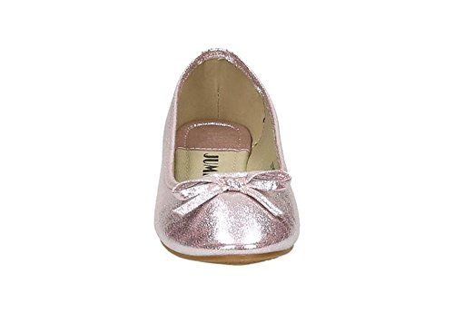Jumex Damen Ballerinas Halbschuhe Slipper Flats Schleife Sommer Freizeit BAZY9178 Pink