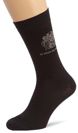 Arthur - chaussettes - imprim animal - homme - noir - 39/45