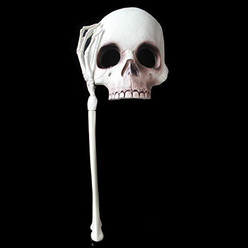 oween Horror Maske Handheld Skelett Maske Erwachsene Kind Maskerade Requisiten Dekoration ()