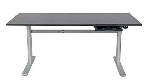 Schreibtisch elektrisch höhenverstellbar in Anthrazit Ergonomisch B 180 cm x T 80 cm Sitz- und...