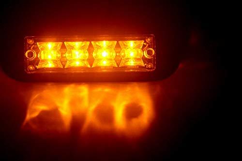 2 pcs 4 W LED d'urgence voyant d'avertissement/Surface Mount Grille Strobe Light