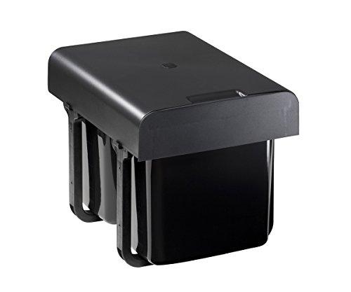 Preiswert Quellmalz Einbau Abfallsammler 2x16 Liter schwarz ab 40er ...