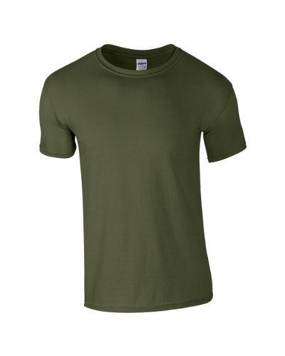 Gildan -  T-shirt - Uomo Vert - Military Green
