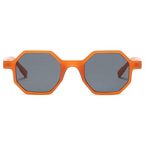 WZYMNTYJ Vintage kleine sechseck Sonnenbrille Frauen Polygon Rahmen Sonnenbrille rot blau schwarz Mode Street Style Shades weiblich