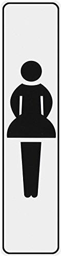 Metafranc Klebeschild Symbol: Damentoilette - 200 x 48 mm / Beschilderung / Infoschild / Türschild / Gewerbekennzeichnung / Grundstückskennzeichnung / Orientierung / 504200