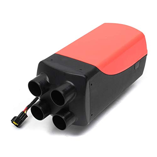 Diesel Air Heater, 12v/8kw Diesel Riscaldatore, 12V Diesel Aria Riscaldatore con telecomando, Riscaldatore Diesel kit con LCD per Auto Camion Yachts Barche Camper rosso nero