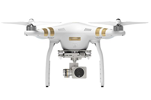 DJI DJIP3P Drone Quadrocoptère Phantom 3 Professional UAV avec Vidéo Caméra 4K Full HD Intégrée – Blanc