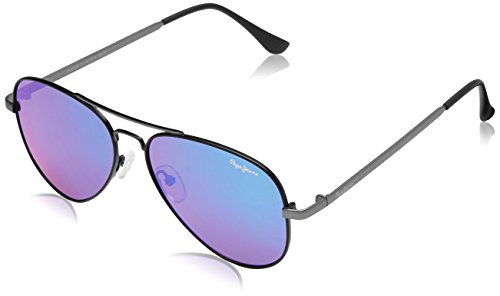 Pepe Jeans UV Protected Aviator Unisex Sunglasses - (PJ5128C2|61|Green Color)