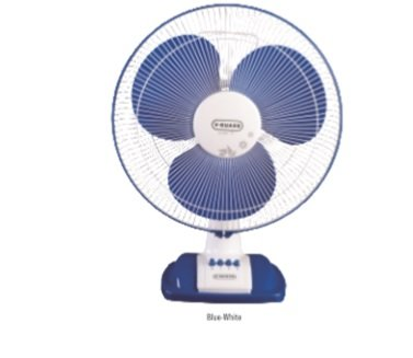 V-GUARD ENTER TF 400MM TABLE FAN WHITE BLUE