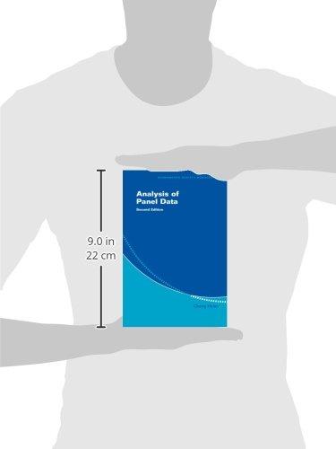 Analysis of Panel Data 2nd Edition Paperback (Econometric Society Monographs)
