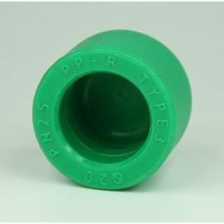 Aqua-Plus - PPR Rohr Kappe d = 32 x 5,4 mm, grün