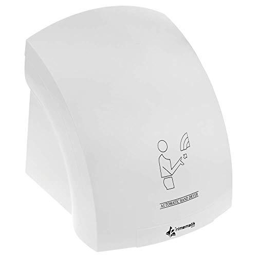 PrimeMatik - Secamanos eléctrico de pared. Secador de manos automático de aire caliente 1800W