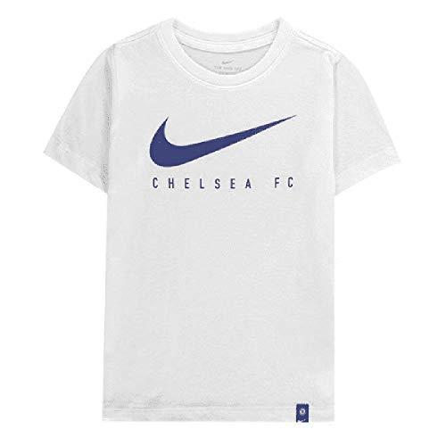 Tr-t-shirt Tee (Nike Jungen CFC B NK Dry Tee TR Ground Football T-Shirt, White, XL)