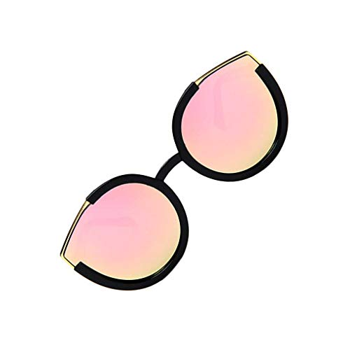 babysbreath17 Frauen-Sonnenbrille Weibliches großes Feld Moderne Augen Shades Brillen Spiel Tragbare Sun Glasses Helles schwarzes Rosa 146mm total Width