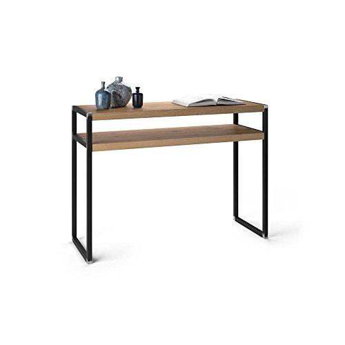 Mobilifiver tavolo consolle, luxury, rovere rustico, 110 x 40 x 80 cm, nobilitato/ferro, made in italy, disponibile in vari colori