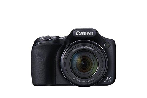 Canon SX520 HS PowerShot Digitalkamera (16 Megapixel CMOS Sensor, 42-Fach Opt. Zoom, 7,5 cm (3 Zoll) LCD-Display) schwarz