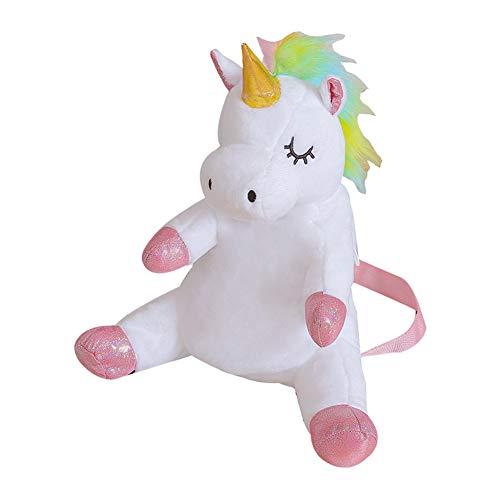 YiOQIBiao Einhorn Pferd Plüsch Spielzeug Rucksack Stofftier Kinder Kinder Mädchen Schule Tasche Freundin Geburtstag Geschenk