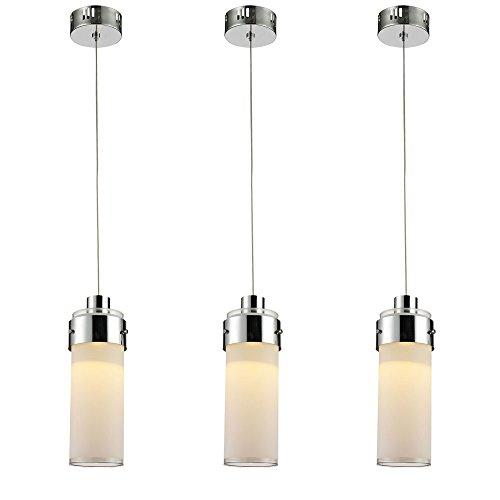 3er Set COB LED 5 Watt Pendel Leuchten Chrom Beleuchtung Glas Hänge Lampen - Cameo Lampe