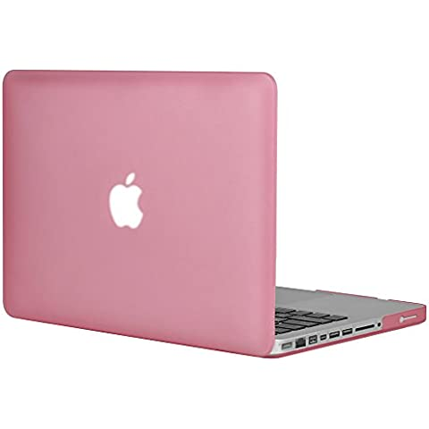 "Topideal - Cover rigida opaca e gommata, in policarbonato, per Apple MacBook Pro da 13,3"" (A1278), 33 cm, colore: Rosa"