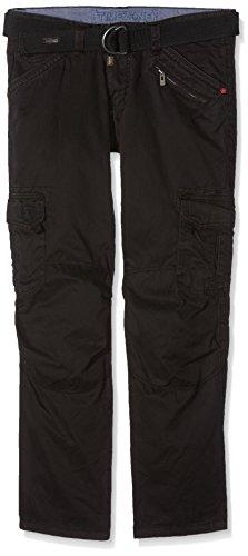 Timezone Herren Cargo Hose BenitoTZ pants incl. belt, Gr. W34/L34, Schwarz (black 999)
