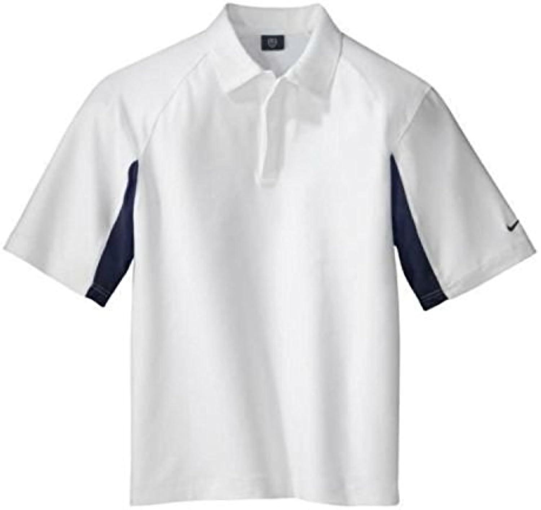 Camiseta deportiva Nike Golf Dri-fit UV Polo para hombre (X-Small, White / Navy)