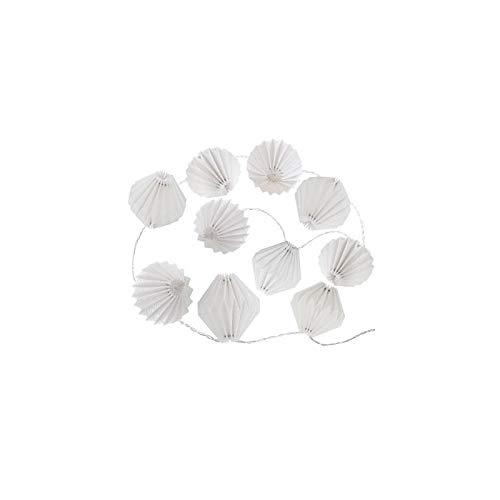AC-Déco Guirlande de 10 LED en Origami - L 33 x l 13 x H 6 cm - Blanc