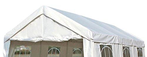 DEGAMO Dachplane/Zeltdach/Ersatzdach für Partyzelt 3x6 PVC weiss