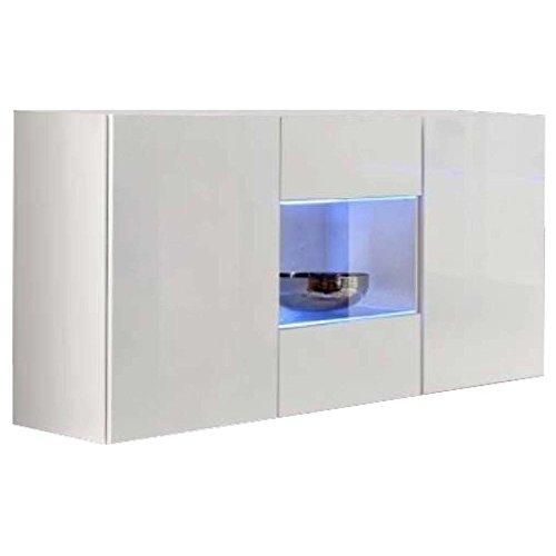 JUSTyou FLI II Kommode Sideboard Wohnzimmerschrank (HxBxT): 70x120x40 cm Weiß Matt/Weiß Hochglanz