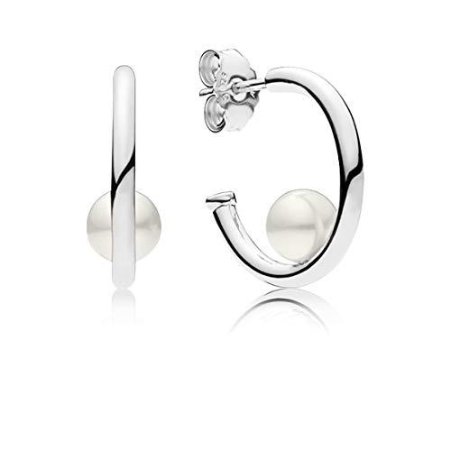 Pandora orecchini a cerchio donna argento - 297528p