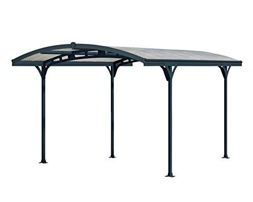 Palram Atlas 5000 Carport, Autoüberdachung, robuste Struktur für ganzjährige Nutzung, Grau/Bronzefarben