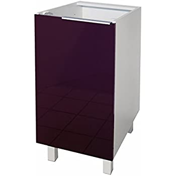 Berlenus CP4BA Kitchen Base Unit 40 cm 1 Door High-Gloss