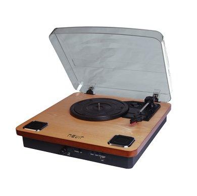 Nevir NVR-805 VBU - Tocadiscos (Tocadiscos de tracción por Correa, Madera, Madera, 33,45,78 RPM, Giratorio, MP3)