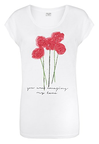 Fresh Made Donna Maglieria/T-Shirt Rose Bianco
