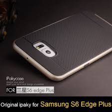 AE Original iPaky Brand Ultra-Thin Dotted Silicon Black Back + PC Frame GOLDEN Bumper Back Case Cover For SAMSUNG GALAXY S6 EDGE PLUS