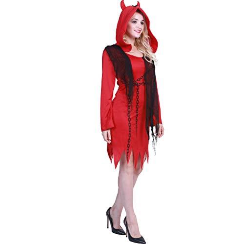 JANDZ Karneval Kostüme: Halloween Party Kostüme: Stilvolle weibliche Kostüme: Der rote Teufel