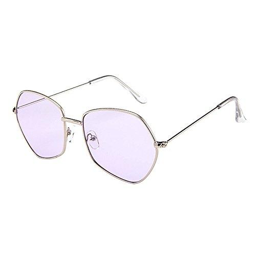 Trisee ✔ Sonnenbrille, Sonnenbrille Herren Sonnenbrille Damen UnregelmäßIge Rahmen Der MäNner Retro Vintage Sonnenbrillen Brillen Blue Light Blocking Glasses Brille Ohne SehstäRke