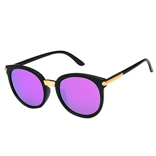 EUCoo MäNner Und Frauen BrillenzubehöR Gestalten Im Freien Reisesonnenbrillen Der Wilden Runden Sonnenbrille