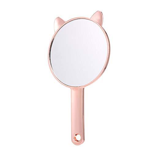 Maquillaje Espejo de mano Espejo de viaje Oro rosa Espejo redondo Espejo cosmético