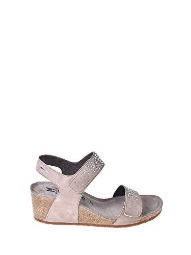 Mephisto Scarpe Sandalo Donna Maria Spark Velcalf 12218N LT Taupe Primavera Estate 2018