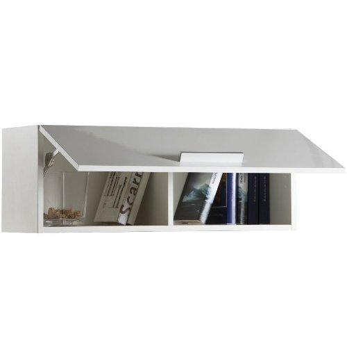 Composad Pensile soggiorno apertura verticale colore laccato bianco