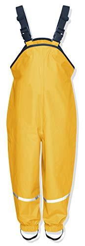 Playshoes Regenlatzhose Textilfutter 405514 Unisex - Kinder Hosen/ Lang, Gr. 98 Gelb (gelb 12)