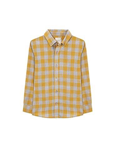 Gocco Camisa Cuadrod, Niños, Amarillo (Mostaza Yf), 11-12 años