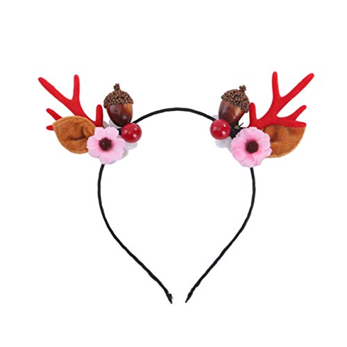 NUOBESTY 1 stück Rentier geweih Stirnband mit Eichel dekorative Weihnachten Haarband für Weihnachten Ostern stirnbänder Kinder Erwachsene (Eichel Kostüm)