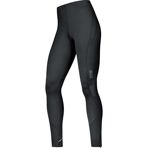 GORE RUNNING WEAR Herren Enganliegende Laufhose, GORE Selected Fabrics, ESSENTIAL Tights, Größe M, Schwarz, TSMESS