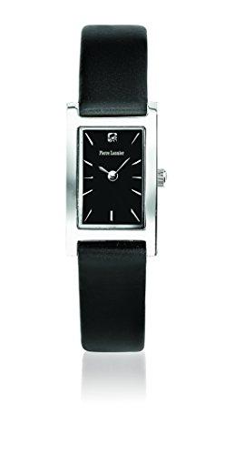 Pierre Lannier - 001F633 - Week End Basic - Montre Femme - Quartz Analogique - Cadran Noir - Bracelet Cuir Noir