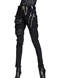 436ca63db9d8 ZHRUI Jeans Jeggings Punk Skinny Jeans Basic Femmes (Pas de Ceinture)  (coloré