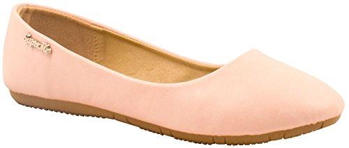 Elara Damen Ballerinas | Bequeme Slip-Ons | Flache Freizeitschuhe | chunkyrayan K800-Pink-37