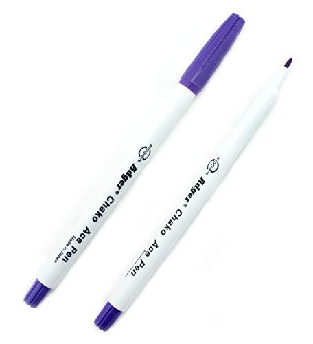Hochwertige violette Textil-Filzstifte, Markierungen verschwinden, wenn sie Luft oder Wasser ausgesetzt werden, 2 Stück -